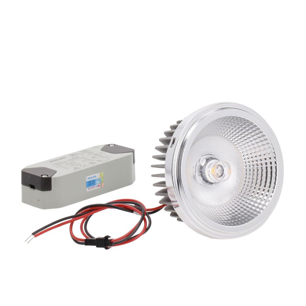 LED lamp PROLUMEN AR111 pirn + liiteseade 230V 18W 1900lm CRI90 36° IP20 3000K soe valge