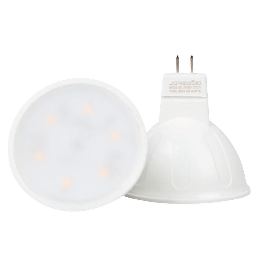 LED lamp AIGOSTAR MR16 A5 12V 6W 390lm CRI80 G5.3 120° 3000K soe valge
