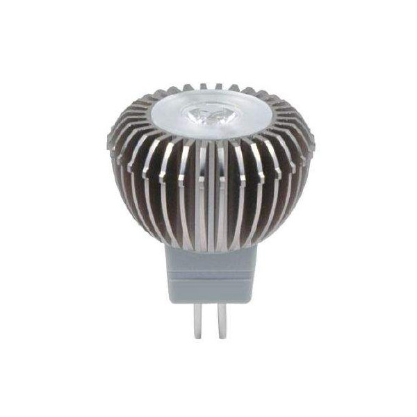 LED lamp MR11 Luxeon 12V 3W 125lm CRI80 G4 45° 3000K soe valge