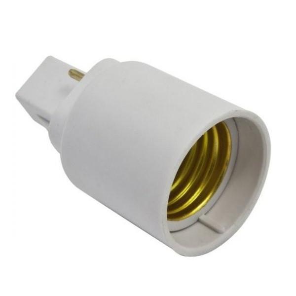 Цоколь лампы G24D > E27