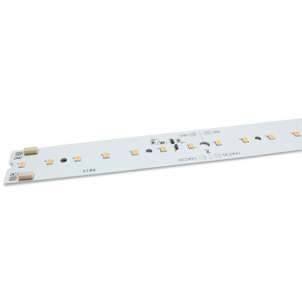 LED aluminium strip REVAL BULB 1150 x 20mm 8S14P 2835 24V 15W 2000lm CRI90 120° IP20 3000K warm white