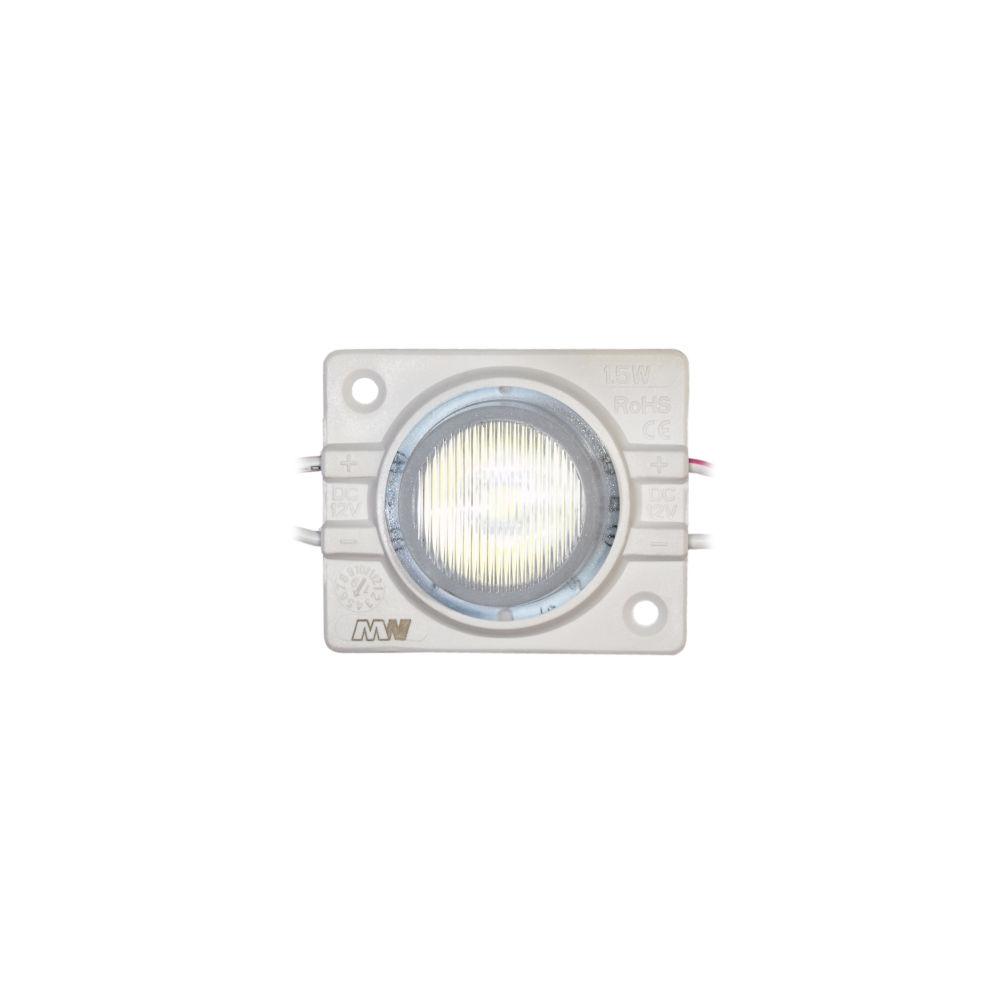 LED module MLD-3030-1W-LENS 12V 1.44W 120lm 12x56° IP67 6000K cold white