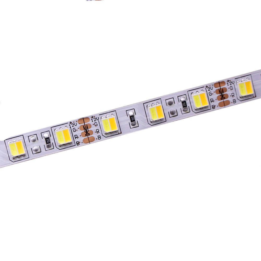LED Riba 5050 60LED 1m 12V 9.6W CRI80 120° IP20 3000K/6500K WW/CW