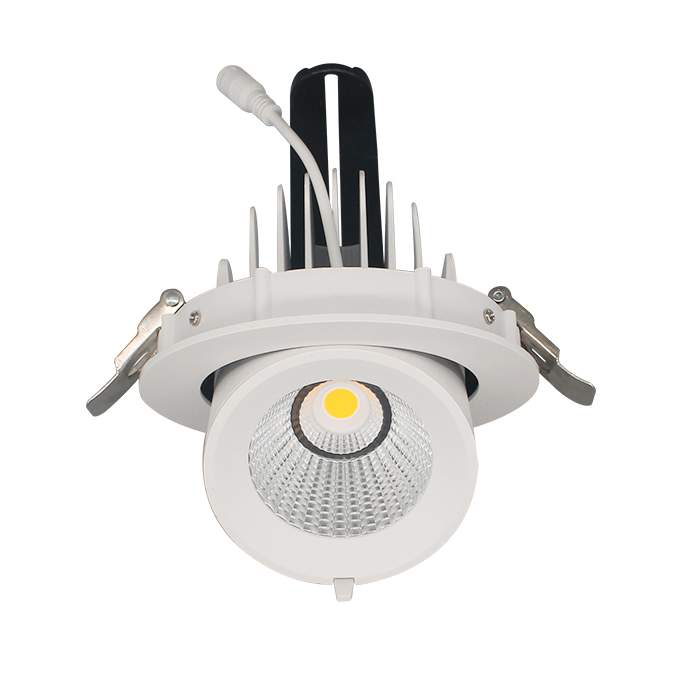LED downlight PROLUMEN Gimbal COB D138 white 230V 25W 2550lm CRI90 38° IP20 3000K warm white