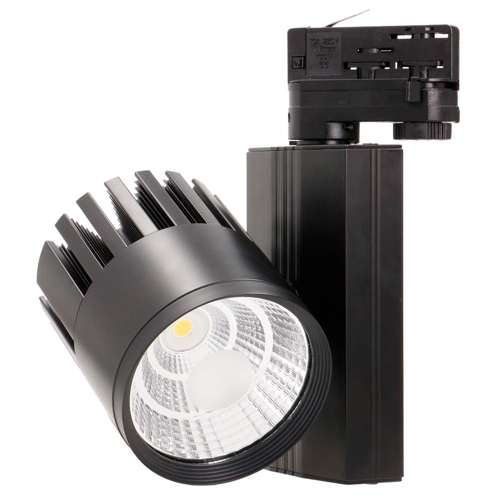 LED track light PROLUMEN TL black 230V 50W 5000lm CRI80 38° 3000K warm white