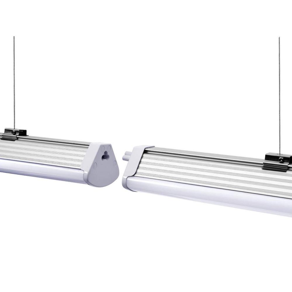 LED laevalgusti PROLUMEN Shop LHL 1200 hõbedane 230V 40W 5200lm CRI80 90° IP42 4000K päevavalge