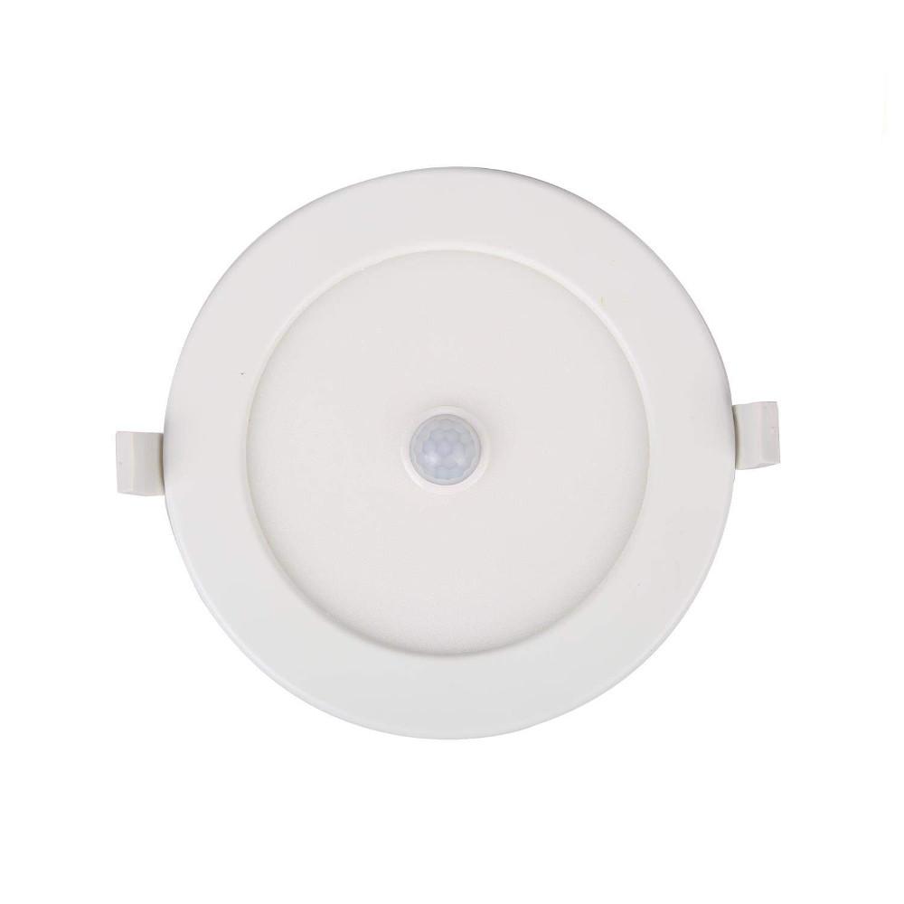 LED downlight AIGOSTAR E6 motion sensor white round 230V 12W 750lm CRI80 120° IP20 3000K warm white