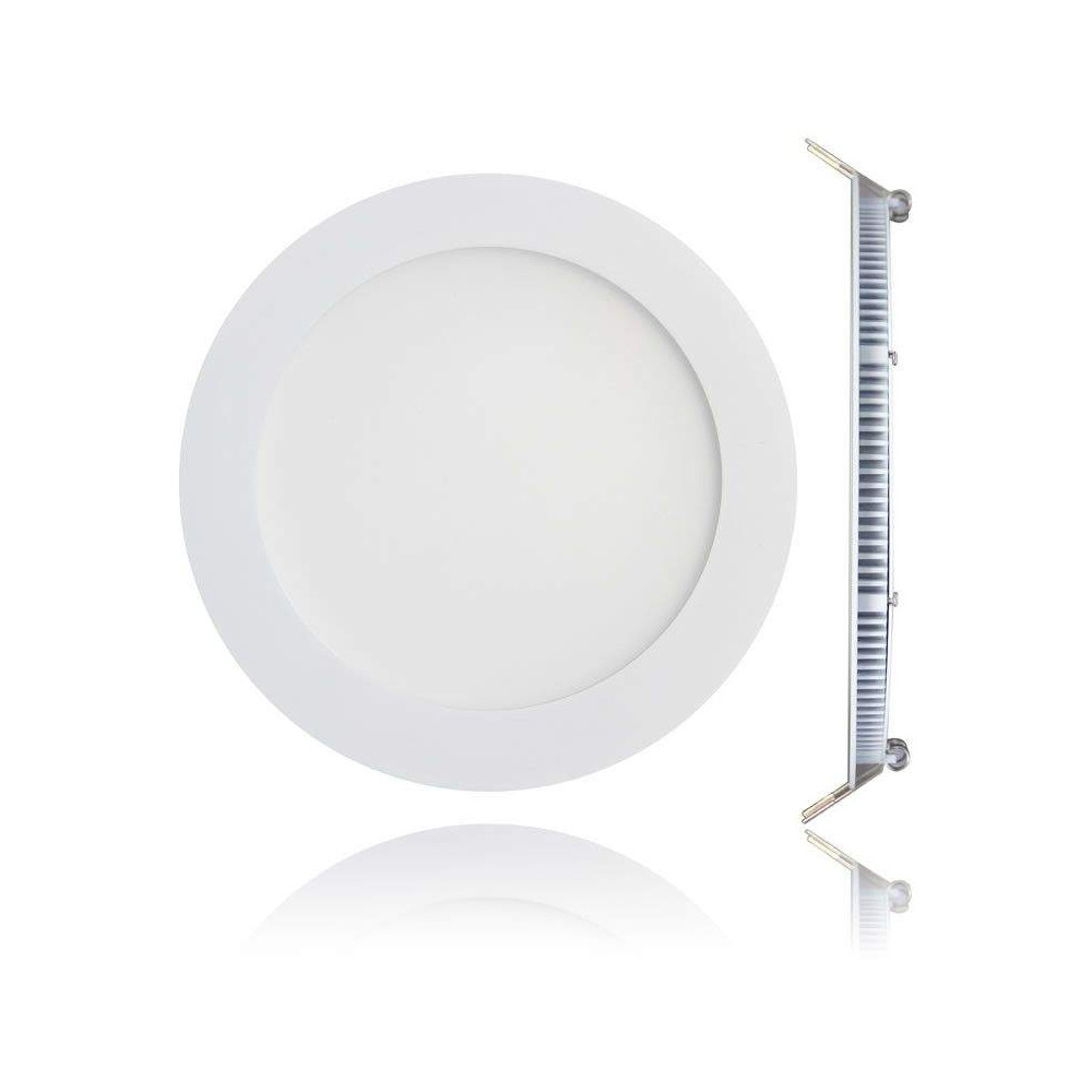 LED panel REVAL BULB D170 white round 230V 12W 900lm CRI80 140° IP20 3000K warm white