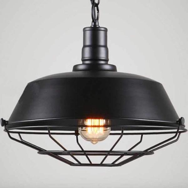 Luminaire Retro Camden black E27 IP20