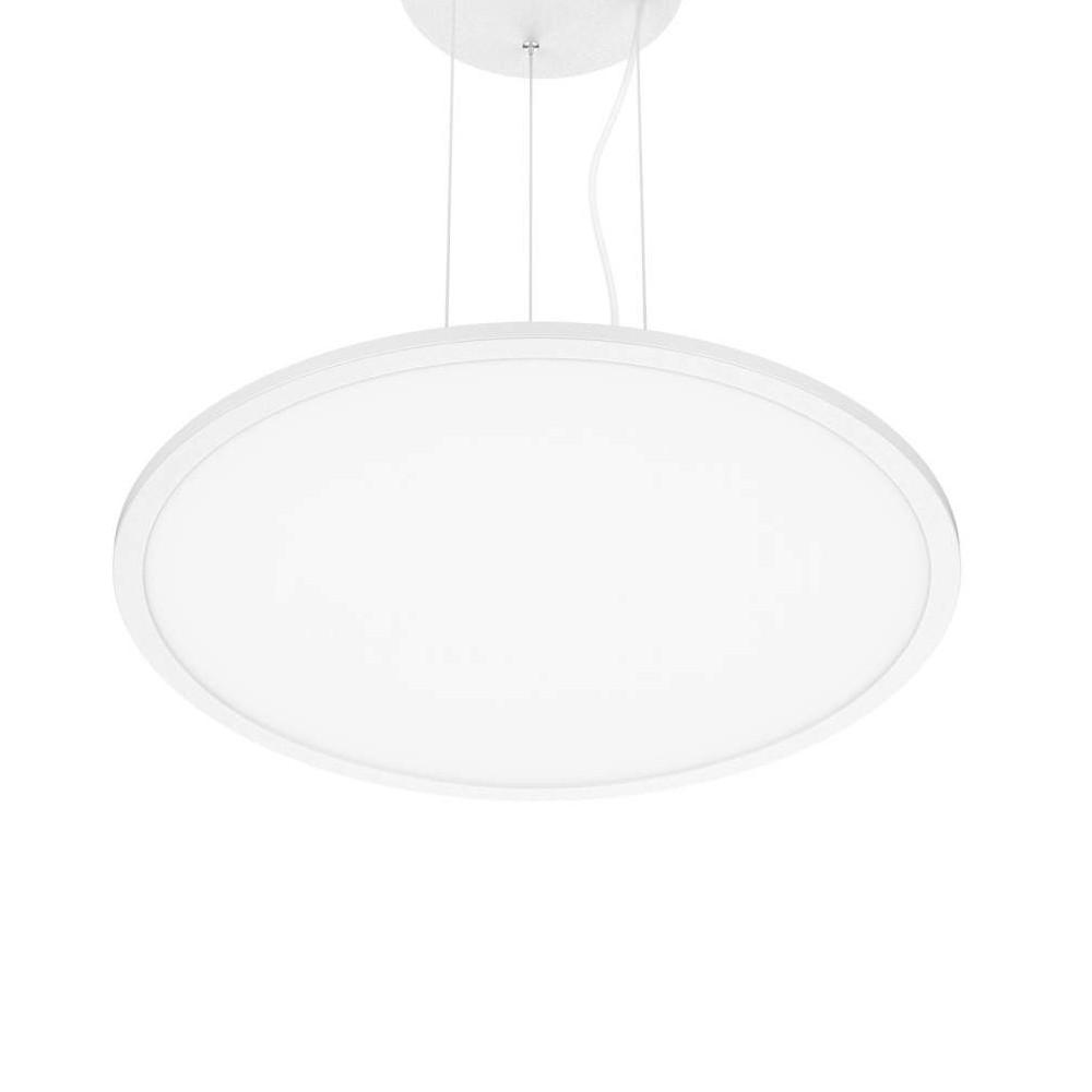 LED panel PROLUMEN 600 TRIAC Pendant white round 230V 45W 3240lm CRI80 120° IP40 3000K warm white