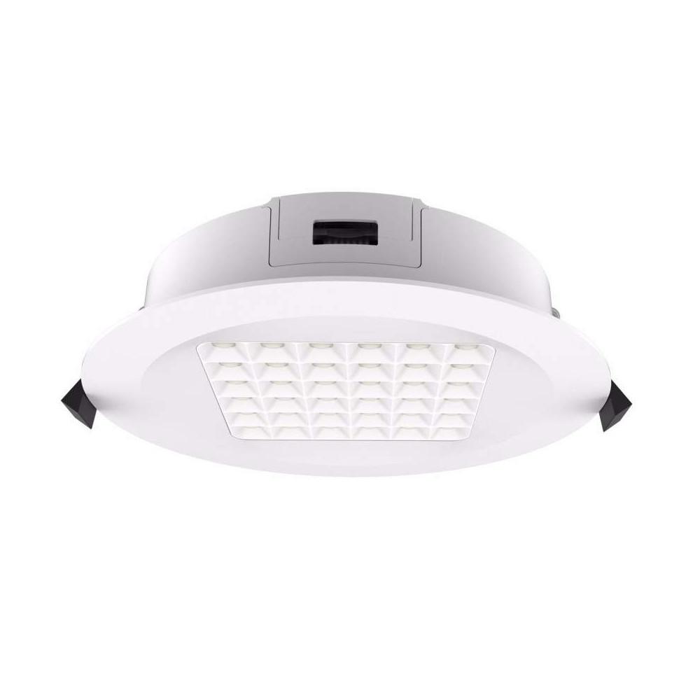 LED-alasvalo PROLUMEN DL96 TRIAC valkoinen 230V 18W 1980lm CRI80 90° IP54 3000K lämmin valkoinen