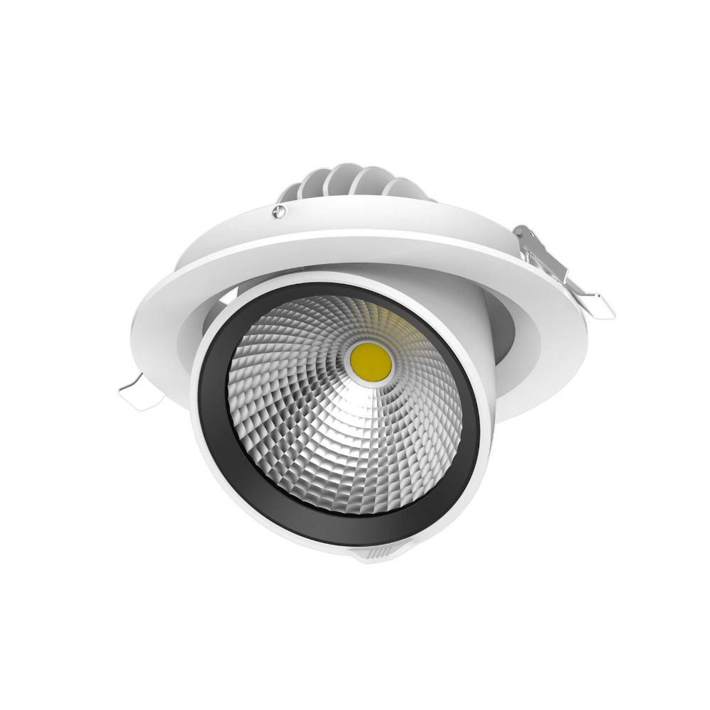 LED Allvalgusti PROLUMEN Gimbal DL77-2.5 valge ring 230V 10W 800lm CRI80 24° IP20 3000K soe valge