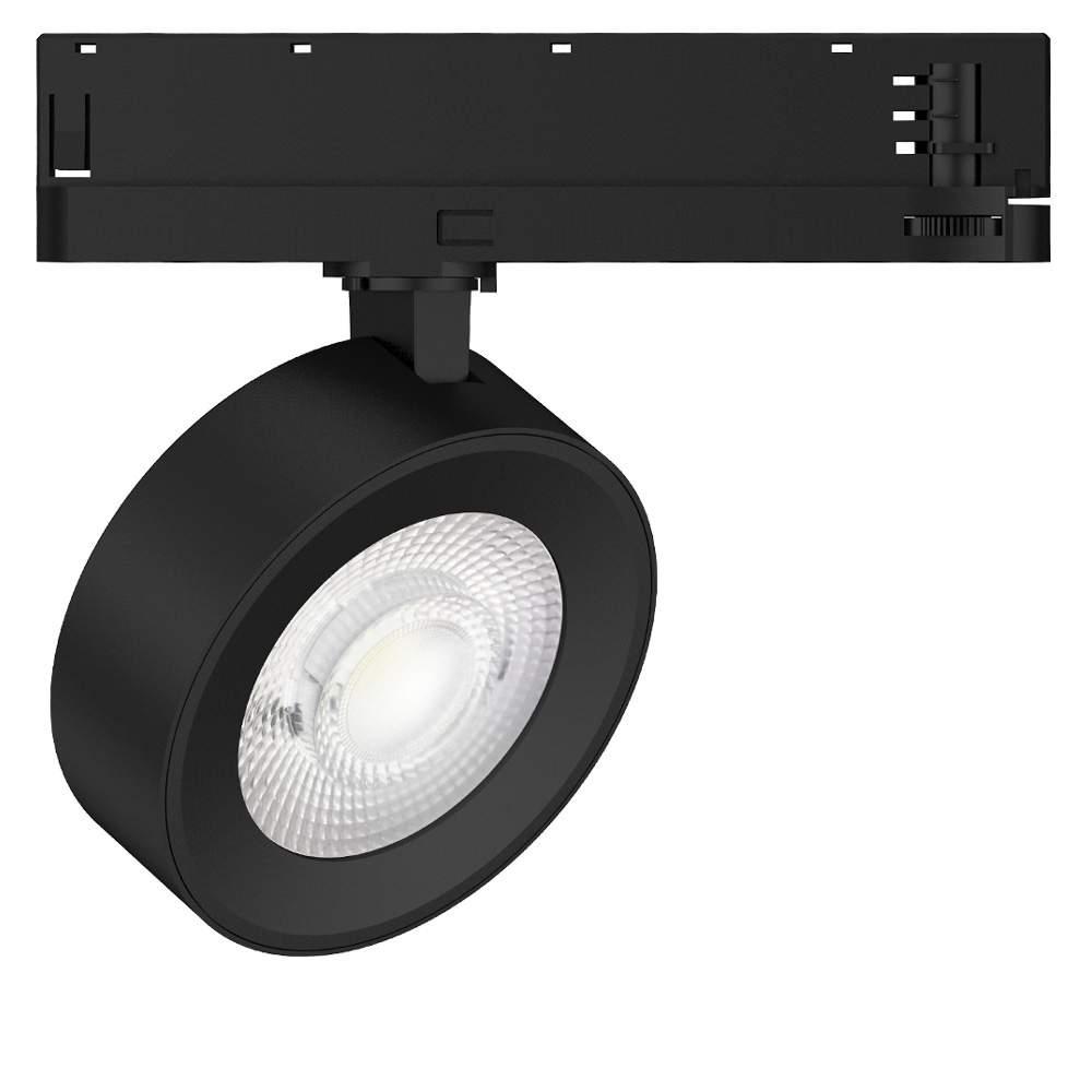 LED track light Flamingo black 25W 2200lm CRI90 36° 3000K warm white