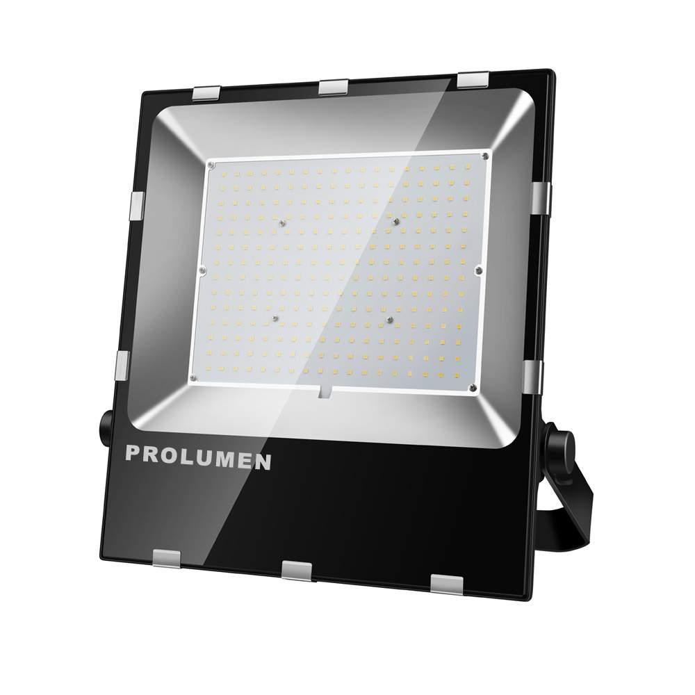 LED Prožektor PROLUMEN FL2 must 230V 200W 30000lm CRI70 120° IP65 5000K päevavalge