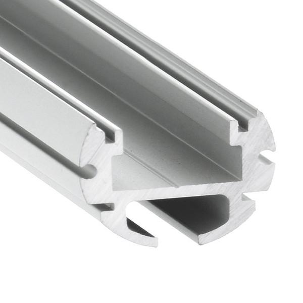 Aluminium profile LUZ NEGRA Paris 2m silvery