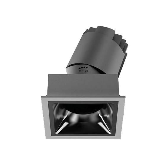 LED Allvalgusti PROLUMEN Linan (TRIAC) must ruut 230V 12W 1000lm CRI90 38° IP20 2700K soe valge