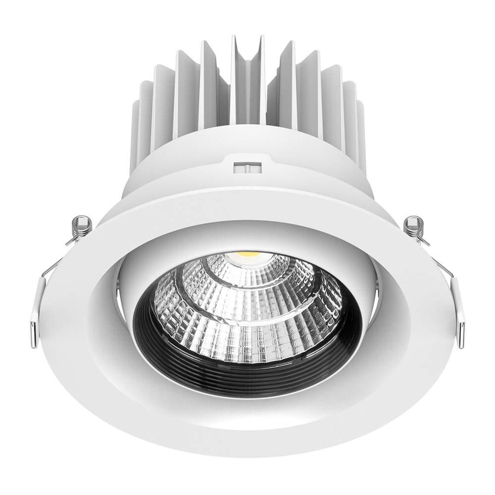 LED Allvalgusti PROLUMEN DL122 6 valge ring 230V 35W 3000lm CRI80 45° IP20 3000K soe valge