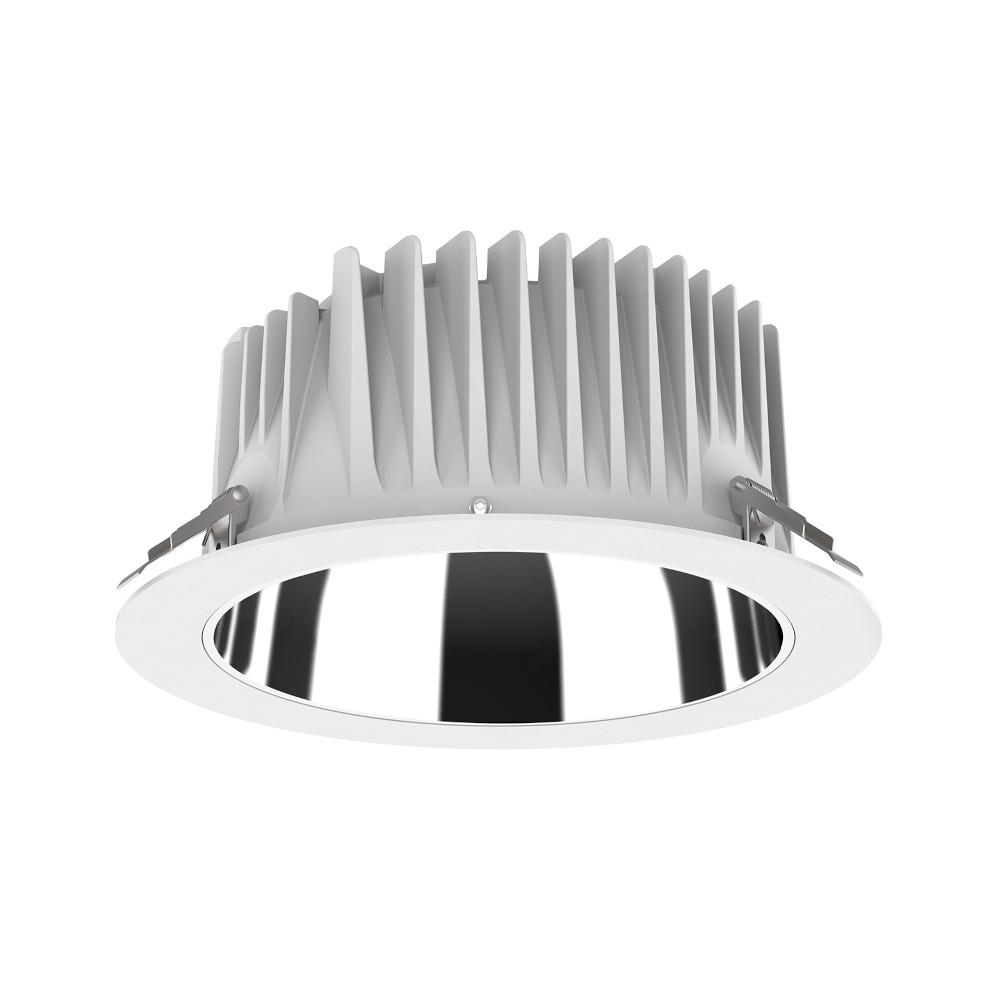 LED Allvalgusti PROLUMEN DL268 8 valge ring 230V 18W 1800lm CRI80 80° IP54 3000K soe valge