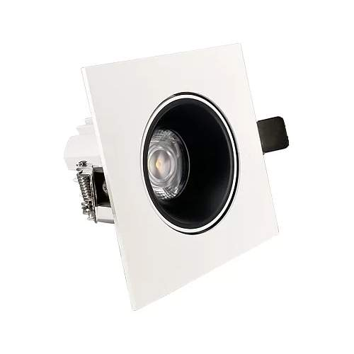 LED Allvalgusti PROLUMEN Nantes TRIAC kärgfiltriga valge ruut 230V 12W 1080lm CRI90 36° IP20 3000K soe valge