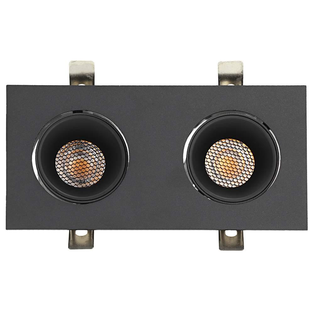 LED Allvalgusti PROLUMEN Nantes 2x12W kärgfiltriga must ruut 230V 24W 2160lm CRI90 36° IP20 3000K soe valge