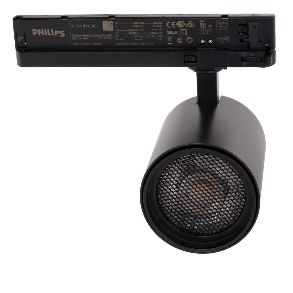 LED Siinivalgusti PROLUMEN Bristol + kärgfilter must 230V 32W 2800lm CRI90 36° IP20 3000K soe valge