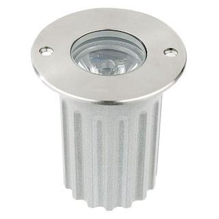 LED põrandavalgusti  UG 05 12V hõbedane ring 3W  45° IP67 soe valge 3000K
