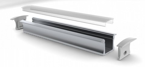 Aluminium profile ALU SlimLine Recessed 15mm 2m