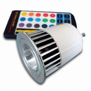 LED polttimo PROLUMEN MCC, IR kauko hopea  5W GU10 60° IP20 RGB
