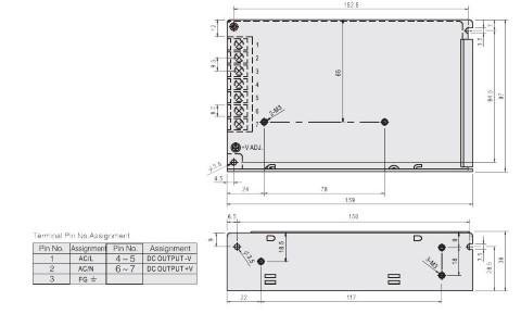 LED Toiteplokk  12V DC  100W  IP20