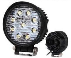 LED vehicle light REVAL BULB Round 9-33V black  27W 1480lm  60° IP67 cold white 6500K