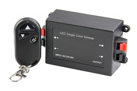 LED Riba pult + juhtplokk LED Riba pult + juhtplokk REVAL BULB Dimmer, 1 kanal, RF pult,  12-24V 96W  IP20