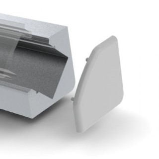 Alumiiniumprofiil  ALU 45 otsakork kaabliavata, metall