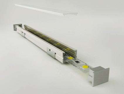 Alumiiniumprofiil Alumiiniumprofiil LUZ NEGRA Roma 3m hõbedane