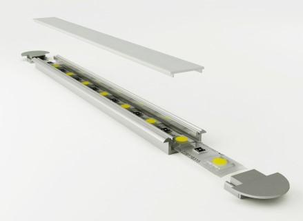 Alumiiniumprofiil LUZ NEGRA Frankfurt 2m hõbedane