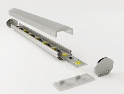 Алюминиевый профиль LUZ NEGRA Torino 2m серебряный