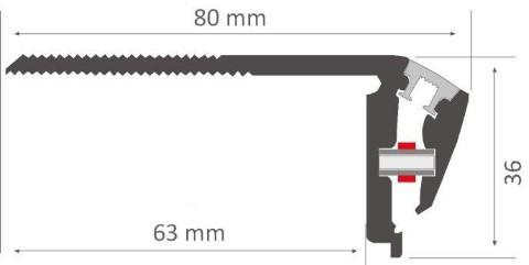 Alumiiniumprofiil LUZ NEGRA Niza DUO 2,4m hõbedane