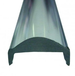 Крышка алюминиевого профиля Крышка алюминиевого профиля LUZ NEGRA TORINO, 30°, 2m, прозрачное 97%