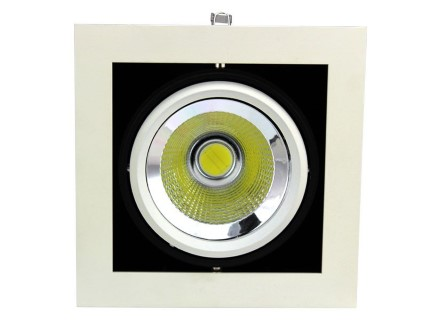LED downlight  COB white square 20W 1600lm  25° warm white 3000K