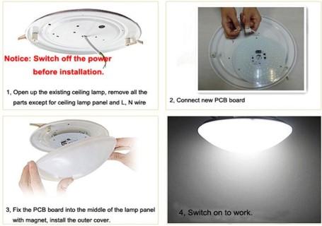 LED Plafooni moodul PROLUMEN Round valge  25W 2125lm CRI80  4000K päevavalge