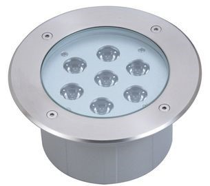 LED underground light LED underground light UG 15 silvery 24V 21W CRI80 45° IP67 3000K warm white