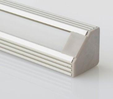 Alumiiniumprofiil Alumiiniumprofiil LUZ NEGRA Sofia otsakork kaabliavaga