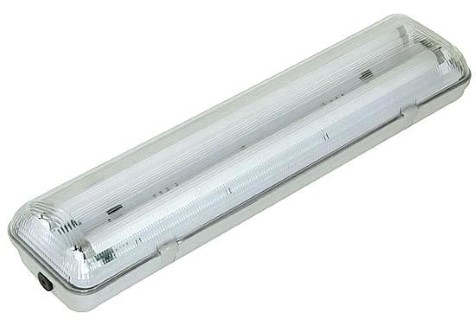 Lamppukotelo INTELIGHT T8 2 x 60 LED-putkeen   IP65