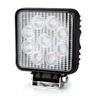 LED vehicle light REVAL BULB Square 9-33V black  27W 1480lm  30° IP67 cold white 6500K