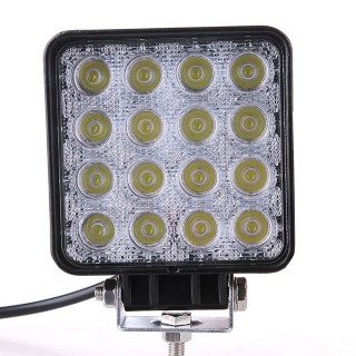 LED vehicle light REVAL BULB Square black  9-33V 48W 2480lm  30° IP67 6000K cold white