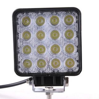 LED Auto valgusti LED Auto valgusti REVAL BULB Square must  9-33V 48W 2480lm  30° IP67 6000K külm valge