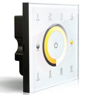 Control panel LTECH DX7 4 tsooni, valge korpus 2.4GHz + DMX512