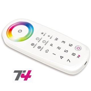 Säädin LTECH T4 RF 2.4GHz RGBW Touch remote control valkoinen  5V