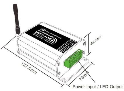Wi-Fi receiver LTECH LT WIFI104 4x4A 12-24V 384W RGBW