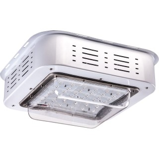 LED light for filling stations  YZD silvery  100W 9500lm  110° IP66 pure white 4000K