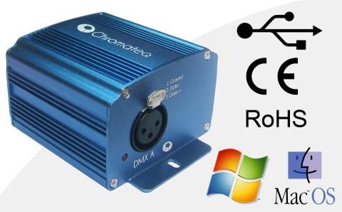 DMX controller DMX controller CHROMATEQ LP512 DMX512 USB